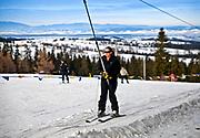 Zakopane, 2011-02-03. Wyciąg narciarski na Gubałówce.