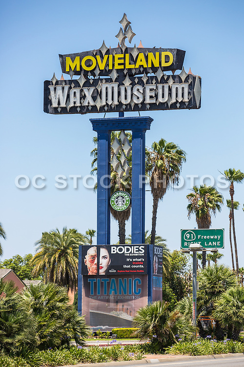 Historic Landmark Movieland Wax Museum Monument Signage