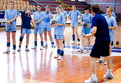 Tamara Mavsar at practice of Slovenian Handball Women National Team, on June 3, 2009, in Arena Kodeljevo, Ljubljana, Slovenia. (Photo by Vid Ponikvar / Sportida)