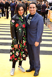 Meera Syal (left) and Sanjeev Bhaskar attending the Yesterday UK Premiere held in London, UK.