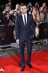 Robert Pattinson arriving at the UK Premiere of Lost City of Z, The British Museim, London.