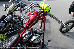 Choppers packed and ready to head out after the Twin Club's Custom Bike Show. Norrtälje, Sweden. Sunday, June 2, 2019. Photography ©2019 Michael Lichter.