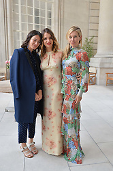 Left to right, ALEX EAGLE, OLGA VILSHENKO  and PIPPA VOSPER at the Vilshenko Mid-Summer Cocktail Party held at the Cafe Royal, 68 Regent Street, London on 20th June 2014.
