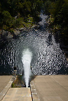 Waterflow release at Prettyboy Reservoir Dam, Baltimore County, Maryland.