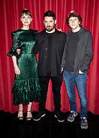 Imogen Poots, Lorcan Finnegan and Jesse Eisenberg at the Vivarium' film photocall, Curzon Soho, London, UK - 21 Feb 2020