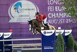 Peter-Steiner Nadja, SUI, Saura de Fondcombe<br /> FEI European Jumping Championships - Goteborg 2017 <br /> © Hippo Foto - Dirk Caremans
