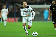 Vincent Janssen of Tottenham Hotspur in action. UEFA Champions league match, group E, Tottenham Hotspur v Bayer Leverkusen at Wembley Stadium in London on Wednesday 2nd November 2016.<br /> pic by John Patrick Fletcher, Andrew Orchard sports photography.