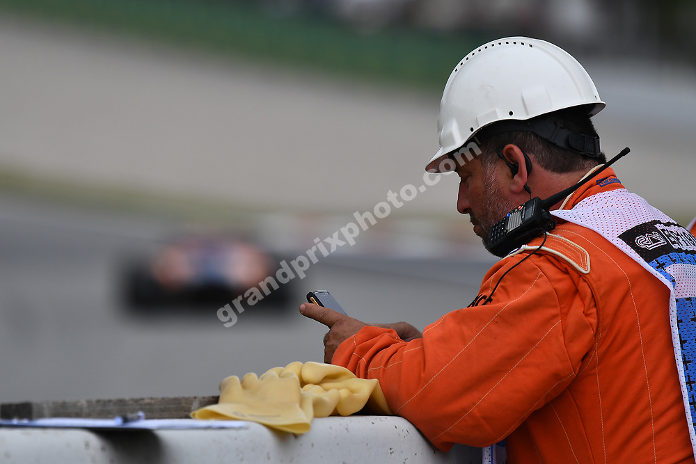 Marshal during practice for the 2019 Spanish Grand Prix at the Circuit de Barcelona-Catalunya. Photo: Grand Prix Photo