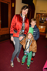 JASMINE GUINNESS and her children RUBY & OTIS at the opening night of Amaluna by Cirque Du Soleil at The Royal Albert Hall, London on 19th January 2016.