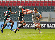 Wasps Lock Will Rowlands hands off Leicester Tigers lock Tomás Lavanini during a Gallagher Premiership Round 10 Rugby Union match, Friday, Feb. 20, 2021, in Leicester, United Kingdom. (Steve Flynn/Image of Sport)