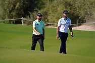 Andy Sullivan (ENG) and Scott Jamieson (SCO) on the 16th during Round 1 of the Commercial Bank Qatar Masters 2020 at the Education City Golf Club, Doha, Qatar . 05/03/2020<br /> Picture: Golffile   Thos Caffrey<br /> <br /> <br /> All photo usage must carry mandatory copyright credit (© Golffile   Thos Caffrey)