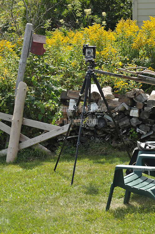 My Dad's original Century Graflex Camera at the Greeley Cottage, S. Harpswell, ME