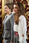 112015 Spanish Royals host a Lunch for King Abdullah and Queen Rania