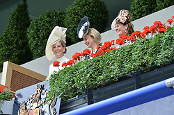 Left, HRH THE COUNTESS OF WESSEX at the 1st day of the Royal Ascot Racing Festival 2015 at Ascot Racecourse, Ascot, Berkshire on 16th June 2015.