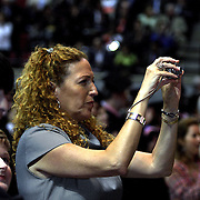 Nora Guerra, Juan Luis Guerra's wife, takes a photo of her husband during the  Berklee College's Commencement, May 09,2009. Juan Luis received a Honorary Degrees for his achievement and influence in the music.