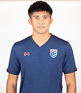 THAILAND - MARCH 18: Nattapon Malapan of Thailand National Football Team Photoshoot on March 18, 2019.<br /> .<br /> .<br /> .<br /> (Photo by: Naratip Golf Srisupab/SEALs Sports Images/MB Media Solutions)