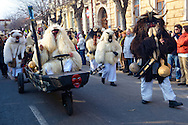 Buso on the Sunday procession of the Busojaras Spring  festival 2010 Mohacs Hungary - Stock photos .<br /> <br /> Visit our HUNGARY HISTORIC PLACES PHOTO COLLECTIONS for more photos to download or buy as wall art prints https://funkystock.photoshelter.com/gallery-collection/Pictures-Images-of-Hungary-Photos-of-Hungarian-Historic-Landmark-Sites/C0000Te8AnPgxjRg