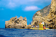 Sea Discovery submarine off the cliffs of Paleokastritsa Corfu, Greek Ionian Islands .<br /> <br /> If you prefer to buy from our ALAMY PHOTO LIBRARY  Collection visit : https://www.alamy.com/portfolio/paul-williams-funkystock/corfugreece.html <br /> <br /> Visit our GREECE PHOTO COLLECTIONS for more photos to download or buy as wall art prints https://funkystock.photoshelter.com/gallery-collection/Pictures-Images-of-Greece-Photos-of-Greek-Historic-Landmark-Sites/C0000w6e8OkknEb8