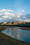 Madison River during sunrise, Yellowstone National Park, Wyoming.