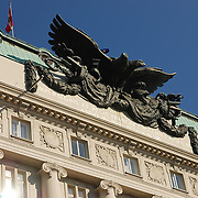 Eagle on the building of Austrian Defence Ministry in Vienna