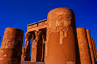 Temple of Haruris and Sobek at Kom Ombo, on the Nile River, Egypt