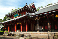 """Sofukuji Temple is unique for its collection of many cultural assets in Western Japan.  Although the gate of the temple, a two-storied tower gate, is called the """"Temple Gate,"""" Sofukuji Temple in fact has three gated entrances."""