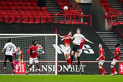 Chris Martin of Bristol City and Sean Raggett of Portsmouth - Rogan/JMP - 10/01/2021 - Ashton Gate Stadium - Bristol, England - Bristol City v Portsmouth - FA Cup.