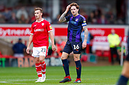 Luton Town defender Glen Rea (16) in action  during the EFL Sky Bet League 1 match between Barnsley and Luton Town at Oakwell, Barnsley, England on 13 October 2018.