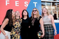 Edinburgh International Film Festival 2019<br /> <br /> CARMILLA (world premiere)<br /> <br /> Pictured: (l to r) Emily Harris (Director), Hannah Rae, Devrim Lingnau, Emily Precious (producer) and Elizabeth Brown (producer)<br /> <br /> Aimee Todd   Edinburgh Elite media