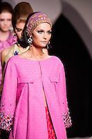 Tatyana Usova walks the runway  at the Christian Dior Cruise Collection 2008 Fashion Show