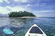 Kayaking, Nuusafee Island, Upolu, Samoa,<br />