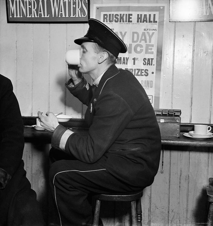 Busman Drinking Tea, London, c. 1937