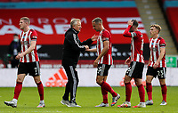 Sheffield United manager Chris Wilder congratulates his players after the match<br /> <br /> Photographer Alex Dodd/CameraSport<br /> <br /> The Premier League - Sheffield United v Chelsea - Saturday 11th July 2020 - Bramall Lane - Sheffield<br /> <br /> World Copyright © 2020 CameraSport. All rights reserved. 43 Linden Ave. Countesthorpe. Leicester. England. LE8 5PG - Tel: +44 (0) 116 277 4147 - admin@camerasport.com - www.camerasport.com