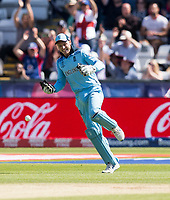Cricket - 2019 ICC Cricket World Cup - Group Stage: England vs. NZ<br /> <br /> Jos Buttler of England catches from Jofra Archer of England to put Martin Guptill of New Zealand out, at the Riverside, Chester-le-Street, Durham.<br /> <br /> COLORSPORT/BRUCE WHITE