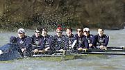 2005 Varsity Boat Race - Pre race fixtures - Putney, London., ENGLAND;.OUBC,  cox Acer nethercott, stroke. Andrew Trigg-Hodge, 7. Jason Flickinger,  6. Michael blomquist, 5. Peter Reed, 4. Joe von Maltzahn, 3. christopher Liwski, 2. Barney Williams Bow Robin Bourne-Taylor...USA/NED stroke. Josh Inman, 7. Gijs Vermeulen, 6. Sjoerd Hamburger, 5. Mark Flickinger, 4. Matt Hughes, 3. Paul Daniels, 2. Gabe Winkler, bow, Julien Romcolthoff...CUBC. Cox Peter Rudge, Stroke, Bernd Heiddickeer, 7. Tom James, 6. Steffen Buschbacher, 5. Sebastian Schulte, 4. Thomas Edwards, 3. Henry Adams, 2. Matthias Kleinz, bow, Luke Walton..Photo  Peter Spurrier. .email images@intersport-images...[Mandatory Credit Peter Spurrier/ Intersport Images] Varsity:Boat Race Rowing Course: River Thames, Championship course, Putney to Mortlake 4.25 Miles