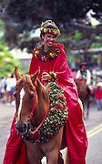 Pa'u Rider, Kamehameha Day, Waimea, Island of Hawaii<br />