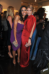Left to right, ROSARIO DAWSON and HOFIT GOLAN at a party hosted by Roberto Cavalli to celebrate his new Boutique's opening at 22 Sloane Street, London followed by a party at Battersea Power Station, London SW8 on 17th September 2011.