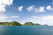 Southeast Asia, Thailand, the island of Koh Chang as seen from the Trat ferry