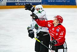 Jaka Sodja during Alps League Ice Hockey match between HDD SIJ Jesenice and HK SZ Olimpija on January 2, 2021 in Ice Arena Podmezakla, Jesenice, Slovenia. Photo by Peter Podobnik / Sportida
