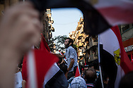 Chanting during an anti-Morsi demonstration marching to Tahrir Square, the home of Egypt's revolution in 2011.