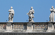Sculptural detail in Saint Peter's Square in the Vatican City, Italy. The actual square was designed by Gian Lorenzo Bernini.
