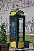 Eastern Europe, Hungary, Budapest, a retro phonebooth.