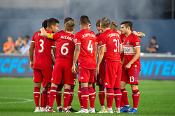 September 26, 2018 - Bronx, New York, US - Chicago Fire team huddles during a regular season match at Yankee Stadium in Bronx, New York.  New York City FC defeats Chicago Fire 2 to 0 (Credit Image: © Mark Smith/ZUMA Wire)