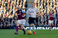 Aston Villa defender Alan Hutton (21) plays a pass back to his keeper during the EFL Sky Bet Championship match between Fulham and Aston Villa at Craven Cottage, London, England on 17 February 2018. Picture by Andy Walter.