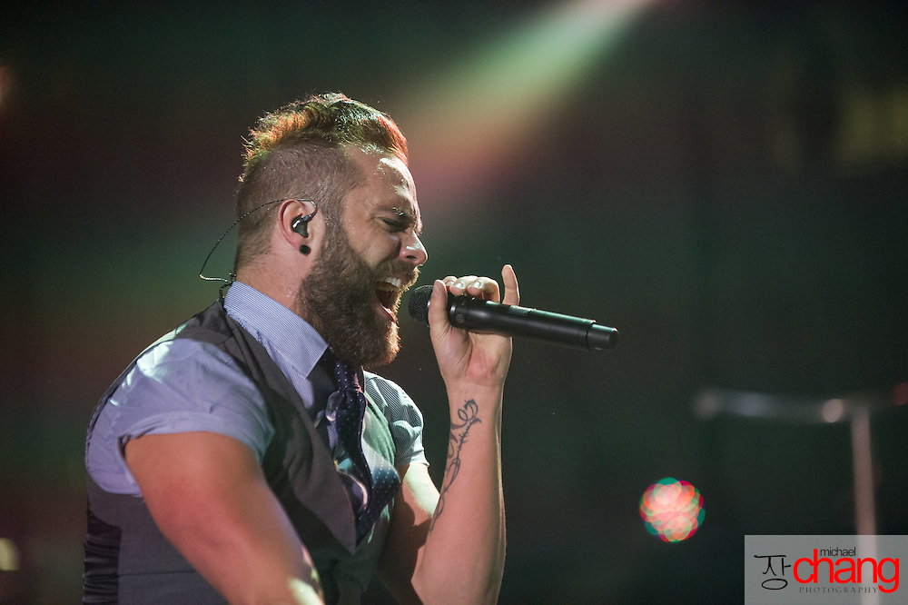 MOBILE, AL  - FEBRUARY 7: Skillet performs during The Road Show Tour on February 7, 2014 in Mobile, Alabama.    (Photo by Michael Chang)