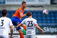 1. divisjon fotball 2018: Aalesund - Mjøndalen. Aalesunds Holmbert Fridjonsson i førstedivisjonskampen i fotball mellom Aalesund og Mjøndalen på Color Line Stadion.