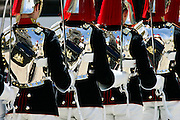 Soldiers of the Blues and Royals Regiment on guard duty in London, United Kingdom