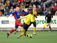 Fotball, Adecco-ligaen, 23.04.06, Tromsdalen - Moss<br /> og Fabien Vidalon (Moss)<br /> Foto: Tom Benjaminsen, Digitalsport
