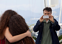 Inas Chanti and Souad Arsane and director Antoine Desrosieres at the A Genoux Les Gars film photo call at the 71st Cannes Film Festival, Thursday 10th May 2018, Cannes, France. Photo credit: Doreen Kennedy