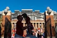 A Nebraska fan kisses his daughter prior to Nebraska's game vs. Rutgers at Memorial Stadium in Lincoln, Neb., on Sept. 23, 2017. Photo by Aaron Babcock, Hail Varsity